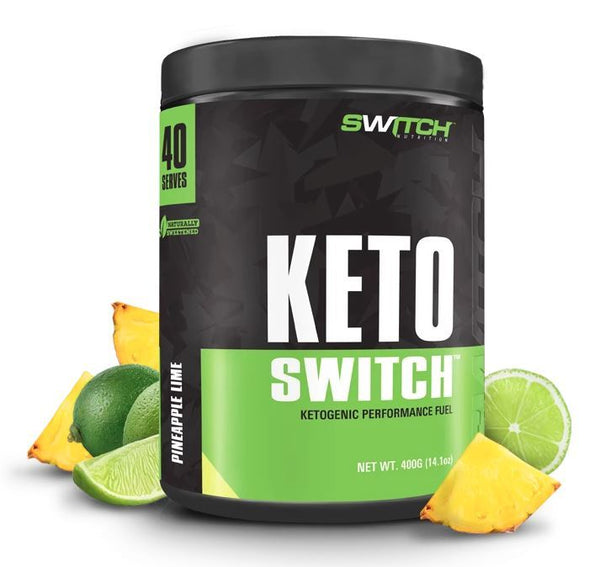 Keto Switch - Ketogenic Performance Fuel - BHB Ketones - Pineapple Lime (40 Serves)
