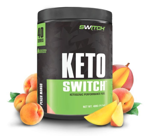 Keto Switch - Ketogenic Performance Fuel - BHB Ketones - Peach Mango (40 Serves)