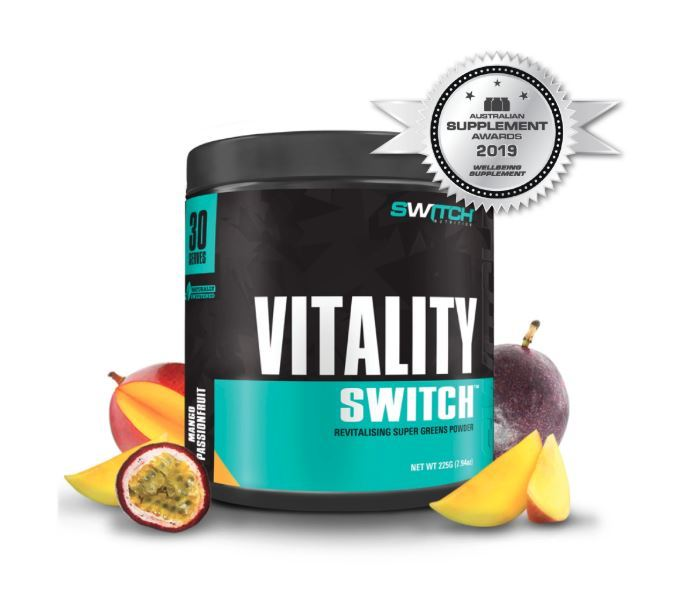 Vitality Switch - Revitalising Wholefood Green Juice - Mango Passionfruit (30 Serves)