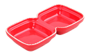 Pawise: Cat Double Bowl - 2x 250 ml/Red