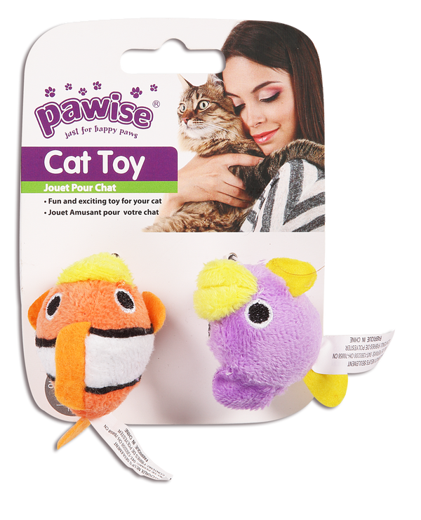 Pawise: Fish Cat Toy - 2 Pack