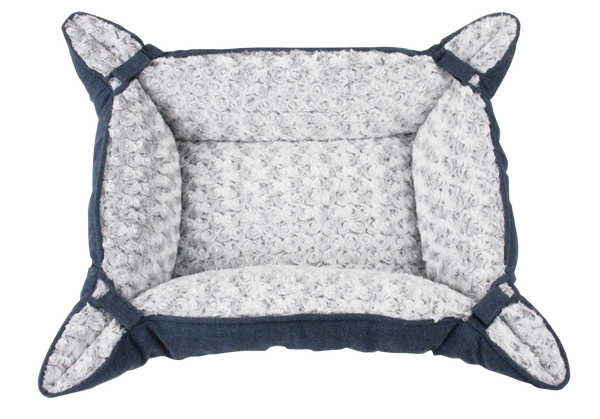Pawise: Pet Deluxe Bed Curly petrol