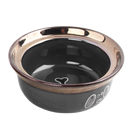 Pawise: Dog Gold Bowl - 1100 ml /Black
