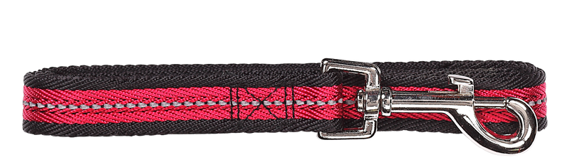 Pawise: Dog Reflective Leash - Red/Medium (1.2m/20mm)