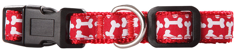 Pawise: Dog Collar - Red/X-Small (15-25cm/10mm)