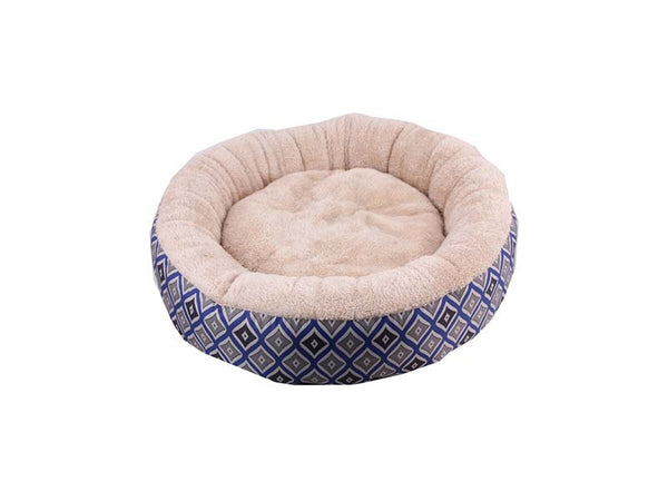 Pawise: Round Dog Bed - Blue 16""