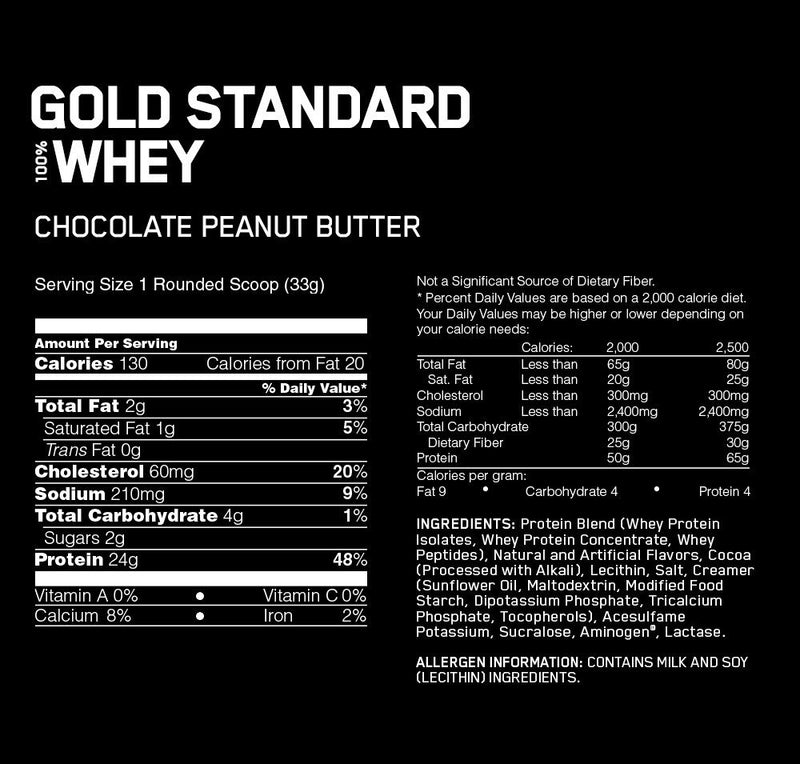 Optimum Nutrition Gold Standard 100% Whey - Chocolate Peanut Butter (2.27kg)