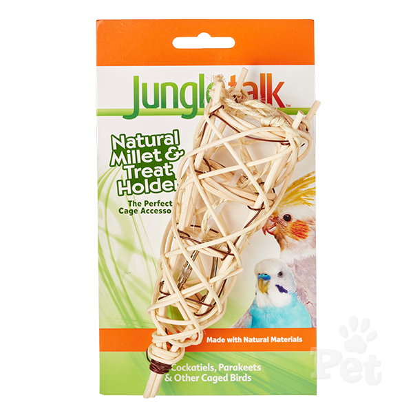 Jungle Talk: Natural Millet and Treat Holder