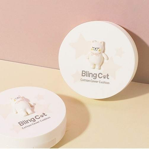 Tony Moly: Bling Cat Cotton Cover Cushion - 01 Vanilla Beige (15g)