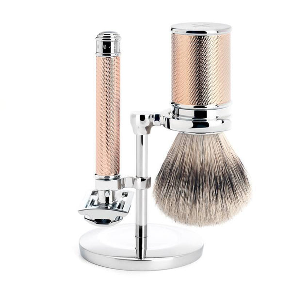 Muhle Traditional 3-Piece Shaving Set Rose Gold