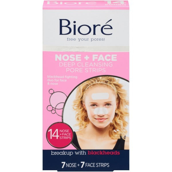 Biore: Deep Cleansing Nose/Face Combo Strips (14 Pack)