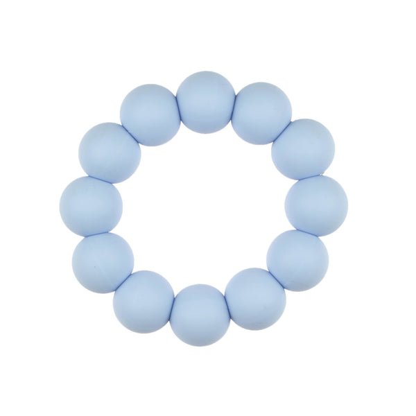 Blush + Blue Simply Silicone Teether - Blue