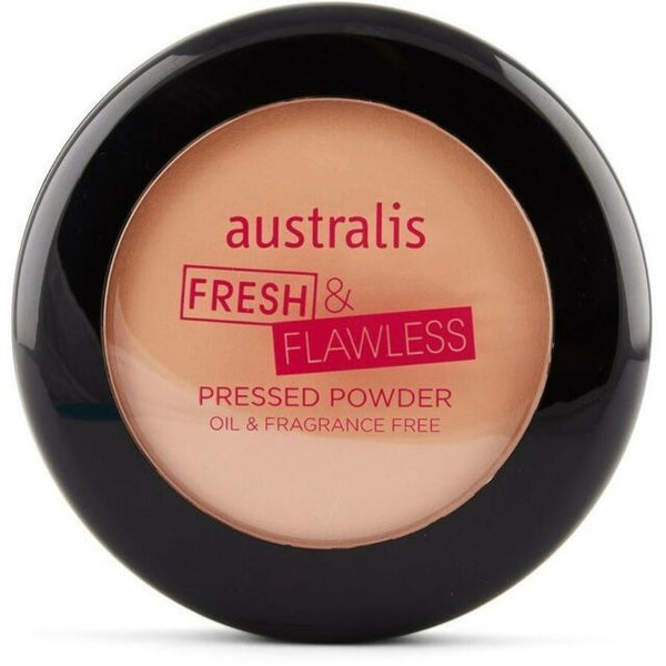 Australis: Fresh & Flawless Pressed Powder - Darkest Brown
