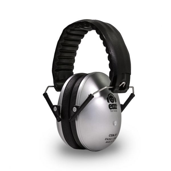 Em's for Kids: Kids Earmuffs - All Black (Silver )
