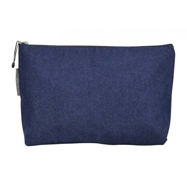 Annabel Trends: Denim Fabric Toiletry Bag - Large