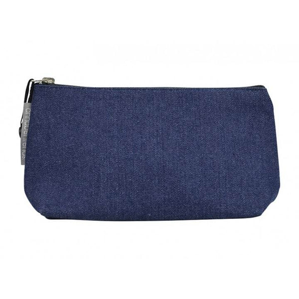Annabel Trends: Denim Fabric Toiletry Bag - Small