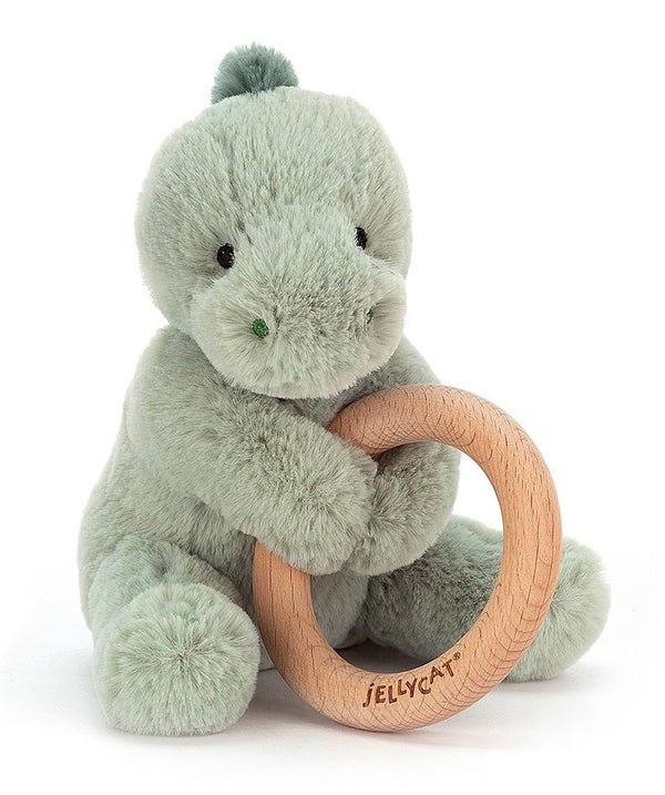 Jellycat: Shooshu Dino - Plush & Wooden Ring