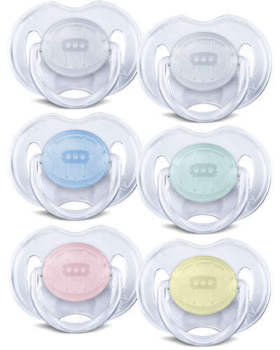 Philips Avent 0-6m Translucent Soother (2 Pack)
