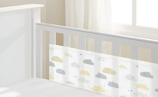 BreathableBaby: Breathable Mesh Cot Liner - 4 Sides (Cloud)