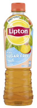 Lipton Ice Tea 99.9% Sugar Free Peach 500ml (12 Pack)