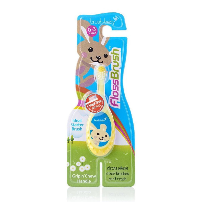 Bobbie FlossBrush - Blue/Pink/Teal/Yellow Asst (0-3 Years)
