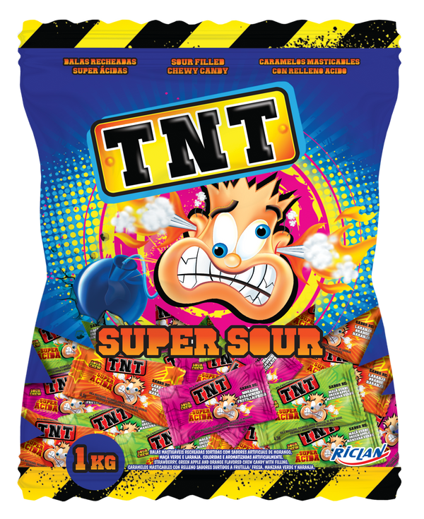 TNT Sour Chews Bulk Bag 1kg