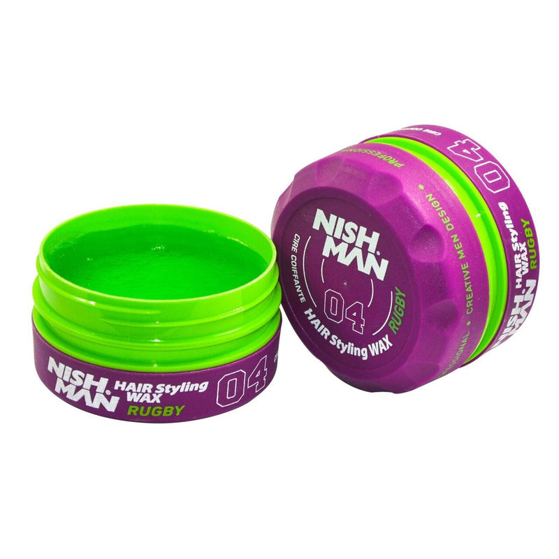 Nishman: Aqua Hair Styling Wax - 04 Rugby (150ml)