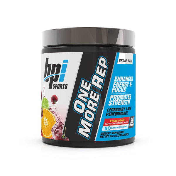 BPI: One More Rep Pre-Workout - Fruit Punch (25 Serve)