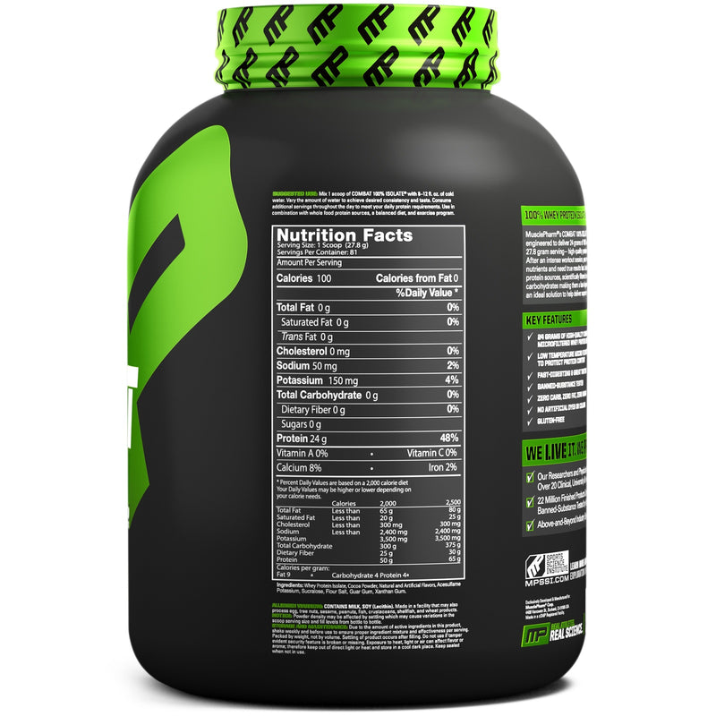 MusclePharm: Combat Sport 100% Isolate - Chocolate Milk (2.27kg)