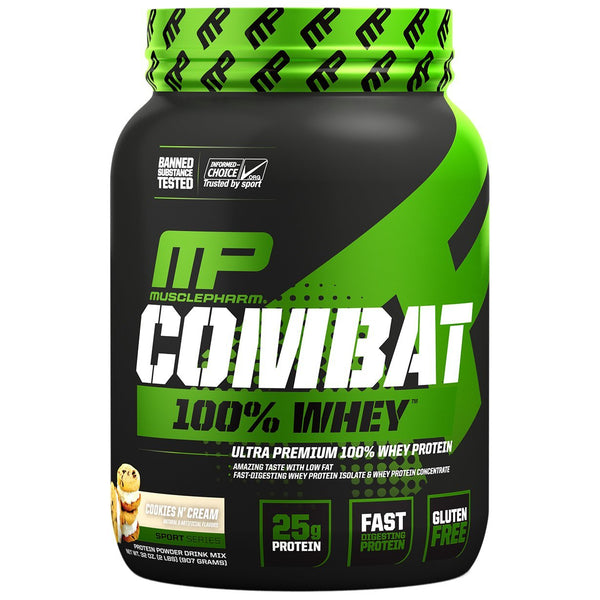 MusclePharm: Combat 100% Whey - Cookies N Cream (907g)