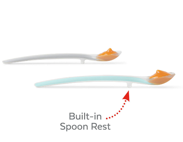Skip Hop: Easy-Feed Spoons - 2-Pack (Grey/Teal)