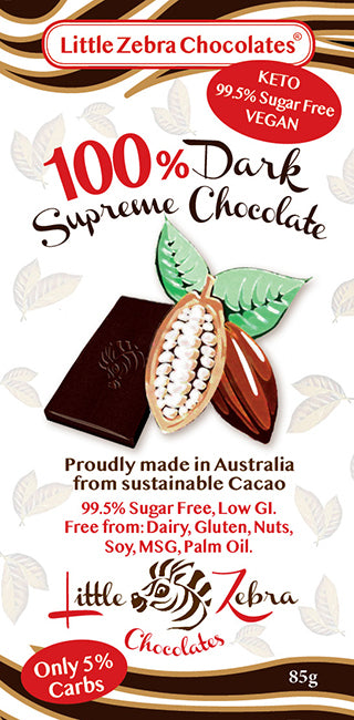 Little Zebra Chocolates: 100% Dark Supreme Chocolate
