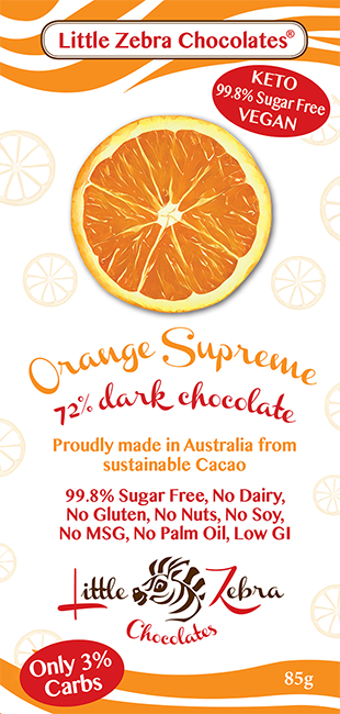 Little Zebra Chocolates: Orange Supreme