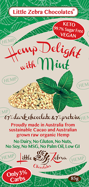 Little Zebra Chocolates: Hemp Delight with Mint