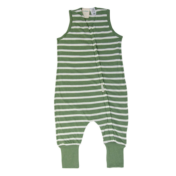 Woolbabe: 3-Seasons Sleeping Suit Fern Stripe - 3 year