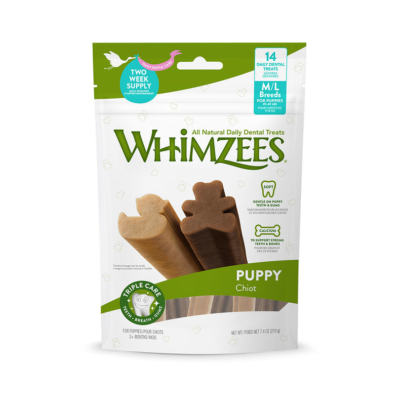 Whimzees: Dog Dental Treats Value Bag - Med/Large Puppy
