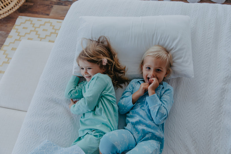 Organic Nights: Aquatic Blue Childrens Long Sleeve/Long Pants Pyjama Set - 10-11 years