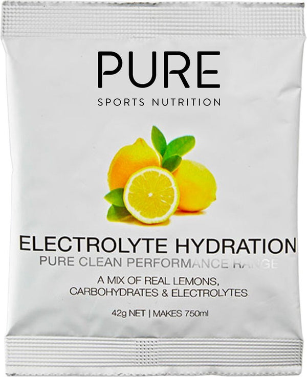 PURE Electrolyte Hydration Sachet Box - Lemon (25x42g)