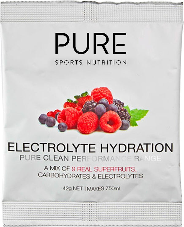 PURE Electrolyte Hydration Sachet Box - Superfruits (25x42g)