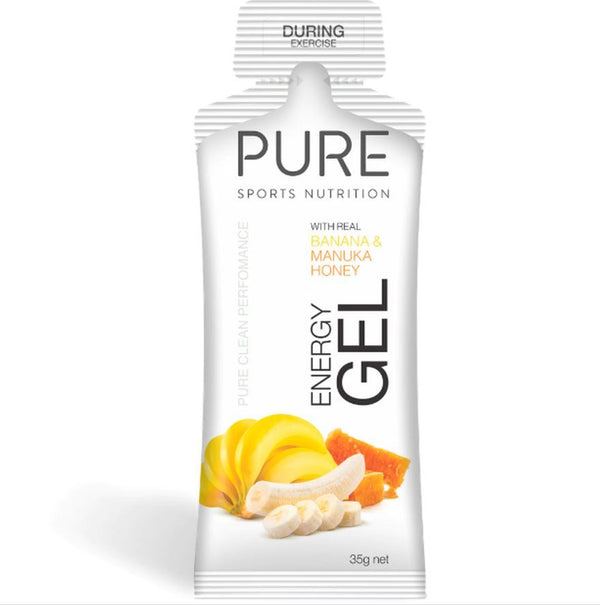 PURE Energy Gels - Banana & Manuka Honey (Box 24)