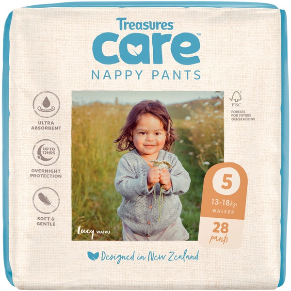 Treasures: Care - Unisex Nappy Pants - 5: Walker (28-pk)