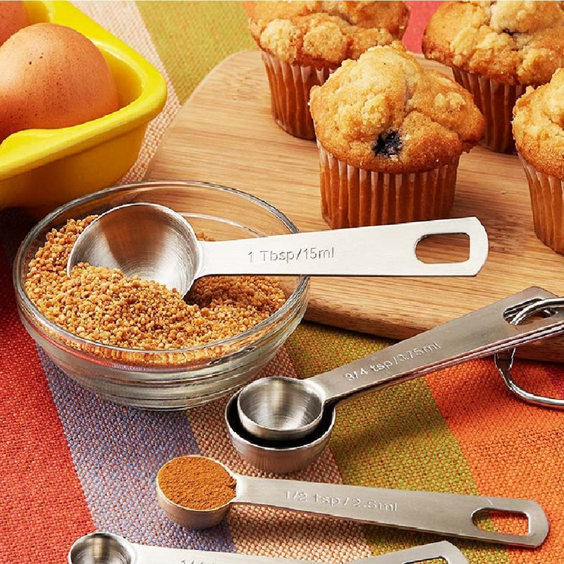 Ape Basics: Stainless Steel Measuring Spoons (Set of 6)