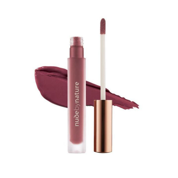 Nude by Nature Satin Liquid Lipstick 09 Rich Plum