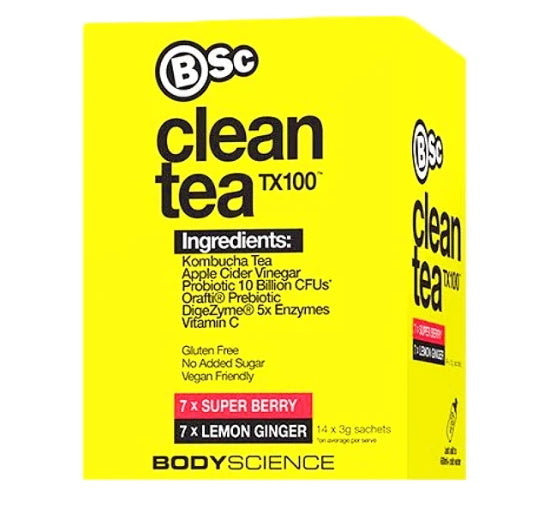 BSC: Clean Tea TX100 - Mixed Flavours (14x3g)