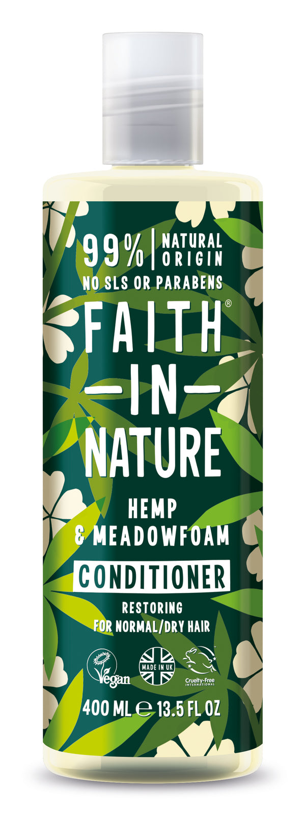 Faith In Nature: Hemp Meadowfoam Conditioner for Normal/Dry Hair (400ml)