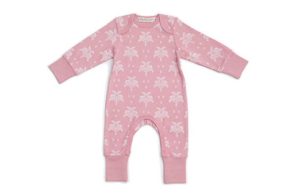 Organic Nights: Baby Sleepsuit Long arm/Long Leg - Blush Pink (6-12mths)