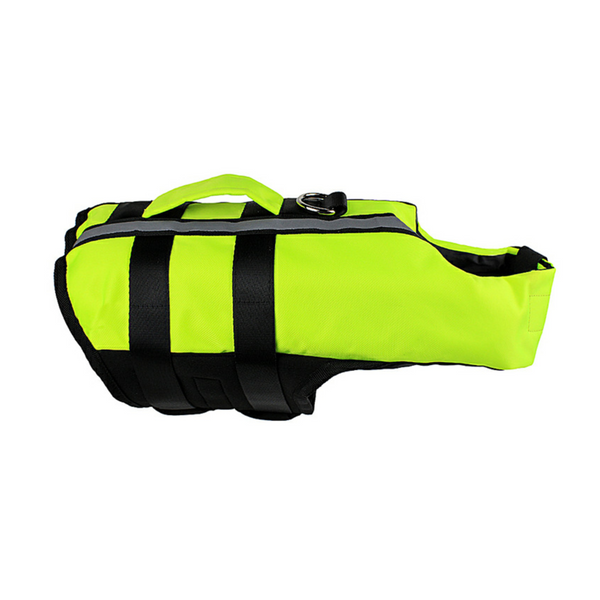 Ape Basics: Pet Dog Life Jacket Foldable Airbag Swimming Vest - Green (Medium)