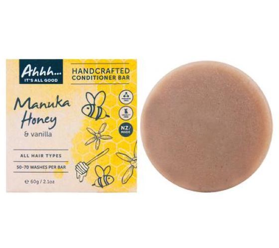 Ahhh Soaps: Conditioner Bar - Manuka Honey and Vanilla (60g)