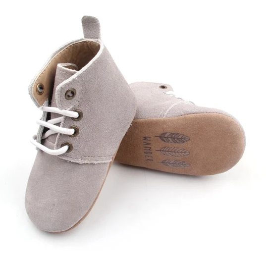 Wander: Oxford Boots - Cloud Grey (Small)
