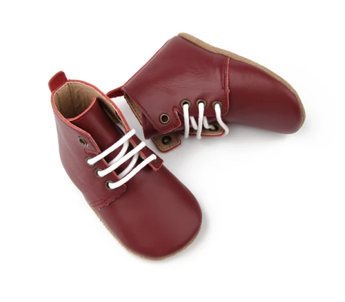 Wander: Oxford Boots - Port (Small)